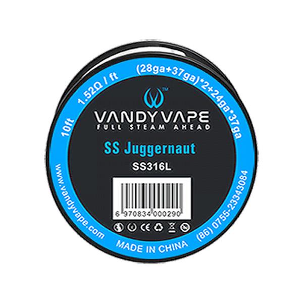 Vandyvape Juggernaut SS316L wire (28GA+0.1mm) * 2+24GA * 0.1mm