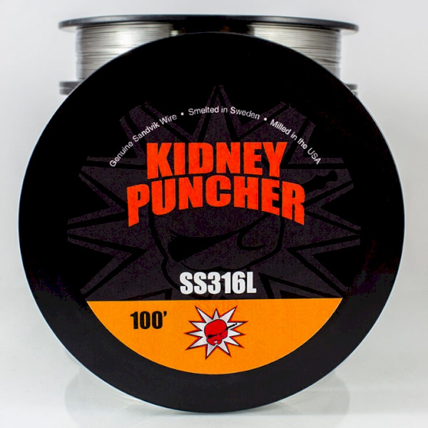 Kidney Puncher SS316L Wire 100ft Spool - 26G