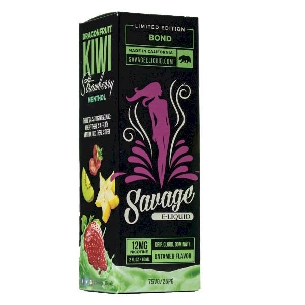 Savage Eliquid - Bond - Dragonfruit Kiwi Strawberry 60ml