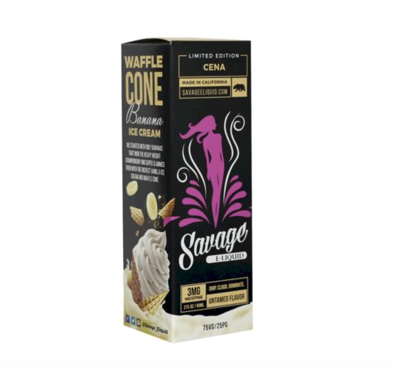 Savage Eliquid - Cena - Waffle Cone Banana Ice Cream 60ml