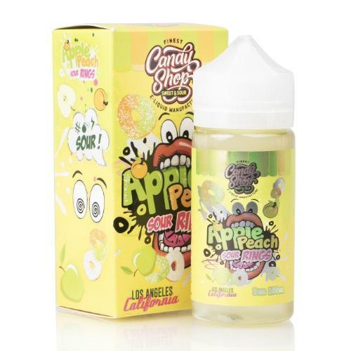 Apple Peach Sour Rings - Candy Shop E Liquid 100ml