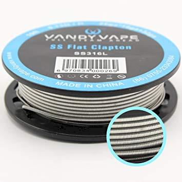 Vandyvape Resistance Wire Flat Clapton SS316L Wire 26ga*18ga+32ga - 10FT