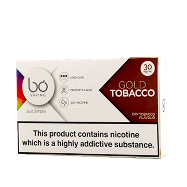 BO Vape - Gold Tobacco 30mg - 3 Pack