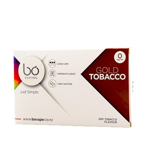 BO Vape - Gold Tobacco 0mg - 3 Pack