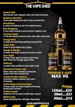 Vape Shed Premium Liquid 120ml (480ml) - 4 Pack