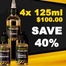 Vape Shed Premium Liquid 120ml (480ml) - 4 Pack