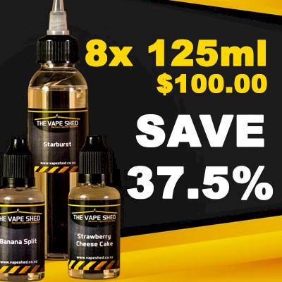 Vape Shed Premium Liquid 120ml (960ml) - 8 Pack